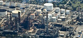 Oil Refinery, aerial view — Stock Photo