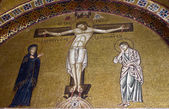 Crucifixion of Jesus, 11th century mosaic, Greece. — Stock Photo