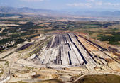 Surface coal mine, aerial view — Stock Photo