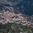 Village of Metsovo, Greece, aerial view. - Stock Photo