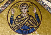 Virgin Mary, 11th century mosaic, Greece. — Stock Photo