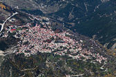 Village of Metsovo, Greece, aerial view. — Stock Photo