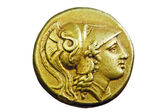 Ancient Greek gold coin — Stock Photo