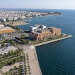 Thessaloniki Concert Hall and Kalamaria suburb, aerial view — Stock Photo