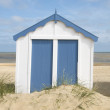 Royalty-Free Stock Photo: Lone Beach Hut, Southwold,Suffolk, UK.