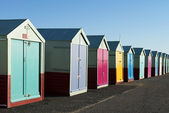 Colorful Beach Huts at Hove, near Brighton, East Sussex, UK. — Stock Photo