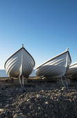 White Boats At Hove, East Sussex, UK. — Stock Photo
