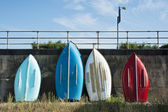 Colorful Boats at Southend on Sea, Essex, UK. — Stock Photo