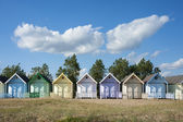 Colorful Beach Huts at West Mersea, Essex, UK. — Stock Photo