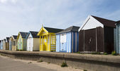 Colorful Beach Huts at Chapel St Leonards, Lincolnshire, UK. — Stock Photo