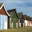 Colorful Beach Huts at Mablethorpe — Stock Photo