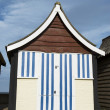 Colorful Beach Huts at Mablethorpe - Stock Photo