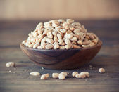 Bowl of salted peanuts — Stock Photo