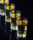 Whiskey shots — Stock Photo