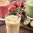 Stock Photo: Fruit smoothies