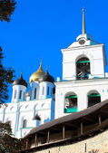 Pskov Kremlin (Krom) and the Trinity orthodox cathedral, Russia — Stock Photo