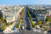 The Elysian Fields, Champs-Elesees in Paris — Stock Photo