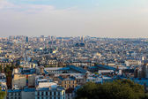 Skyline of Paris city from Montmartre hill, France. — Stock Photo