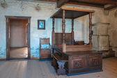 Спальня в Шильонский замок. — Стоковое фото
