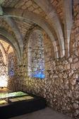 Sótano de piedra del castillo. — Foto de Stock