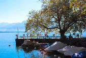 The Embankment in Montreux. Switzerland. — Stock Photo