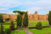 Widok pozostaje termy karakalli w rzymie, włochy — Zdjęcie stockowe