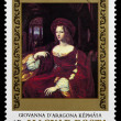 "Postage stamp shows picture Raffaello Santi ""Giovannd'aragon — Stock Photo #26047987"