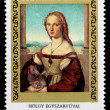 "Postage stamp shows picture Raffaello Santi ""Holgy Egyszarvuva — Stock Photo #26048037"