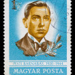 Postage stamp shows portrait of Pesti Barnabas — Stock Photo #26049609