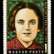 Postage stamp shows portrait of Martos Flora — Stock Photo #26049611