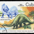 KUBA - CIRCA 1985: stamp printed by KUBA, shows dinosaurs, circa — Stock Photo