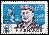 USSR - CIRCA 1964: stamp printed by USSR, shows the hero o — Stock Photo