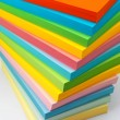 Stock Photo: Stack of color paper
