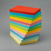 Stack of color paper — Stock Photo