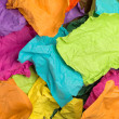 Crumpled color paper. Rainbow colors. Top view. — Stock Photo #25288811