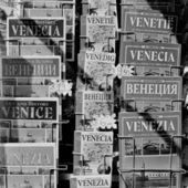 Italy. Venice travel guides on the newsstand — Stock Photo