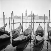 Italy. Venice. Early Morning. Classical view of Grand Canal. San — Stock Photo