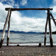 View towards Chile across beagle Channel, Ushuaia, Argentina — Stock Photo