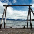 View towards Chile across beagle Channel, Ushuaia, Argentina — Stock Photo #30248387