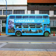 Blue bus, Ushuaia, Tierrdel Fuego, Argentina — Stock Photo #30248915