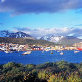 Ushuaia with snowcapped mountains, Argentina — Stock Photo