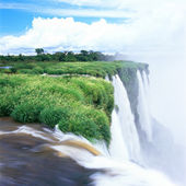 Iguazu waterfall, Porto Iguazu, Argentina — Stock Photo