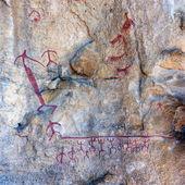 Cave paintings in the Cueva de las Manos, El Calafate (near Lake — Stock Photo