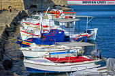 HERKLION, GREECE - SEPTEMBER 2012: Harbor, Crete — Stock Photo