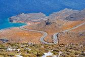 красный автомобиль, эгейского моря, крит, греция — Стоковое фото