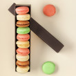Colourful macaroon biscuits — Stock Photo