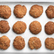 Homemade oatmeal cookies with sunflower seeds — Stock Photo