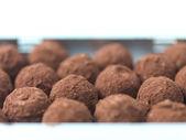 Homemade chocolate truffles — Stock Photo