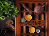 Traditional Chinese teapot used in tea ceremony — Stock Photo