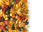 Dried pasta shapes — Stock Photo